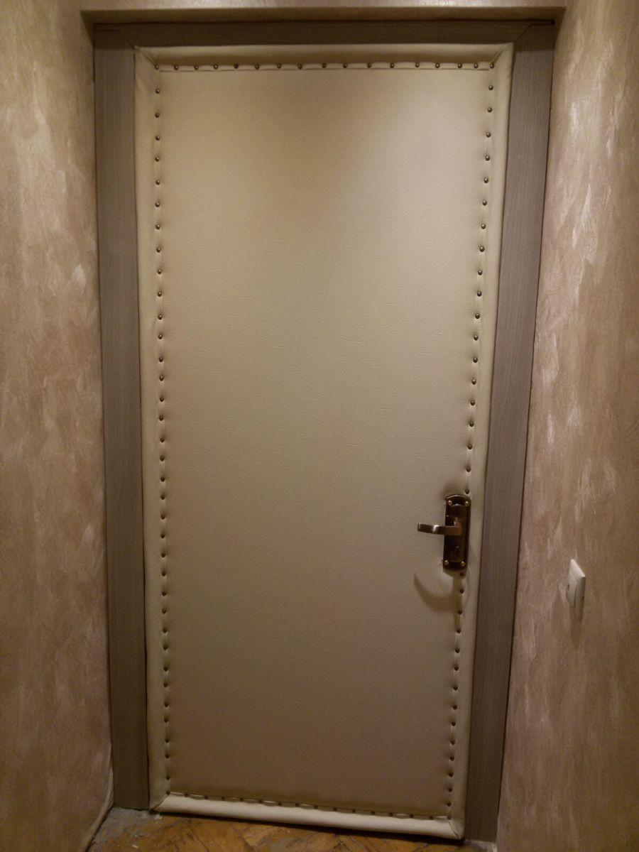 оббитые дермантином входные двери