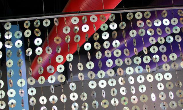 Занавес из дисков