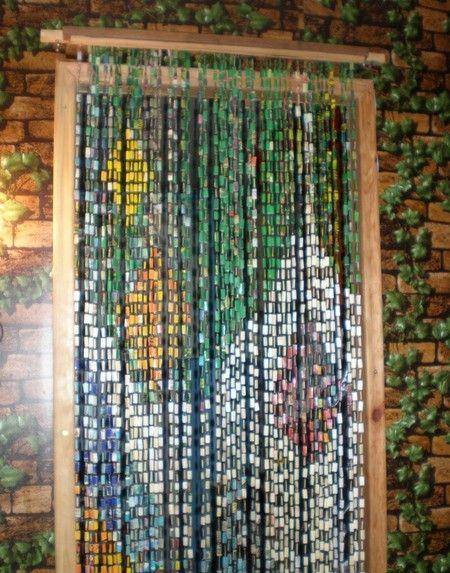 Висюльки на дверь в виде мозаики