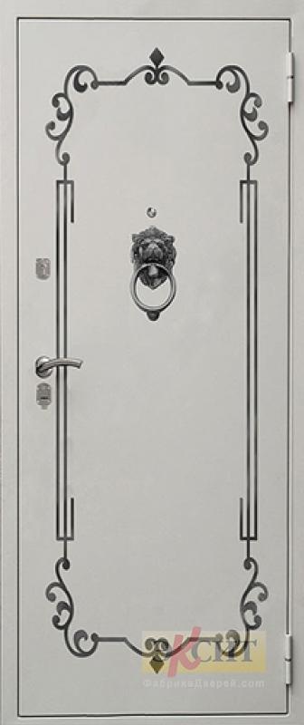 двери с декоративной металлической ковкой